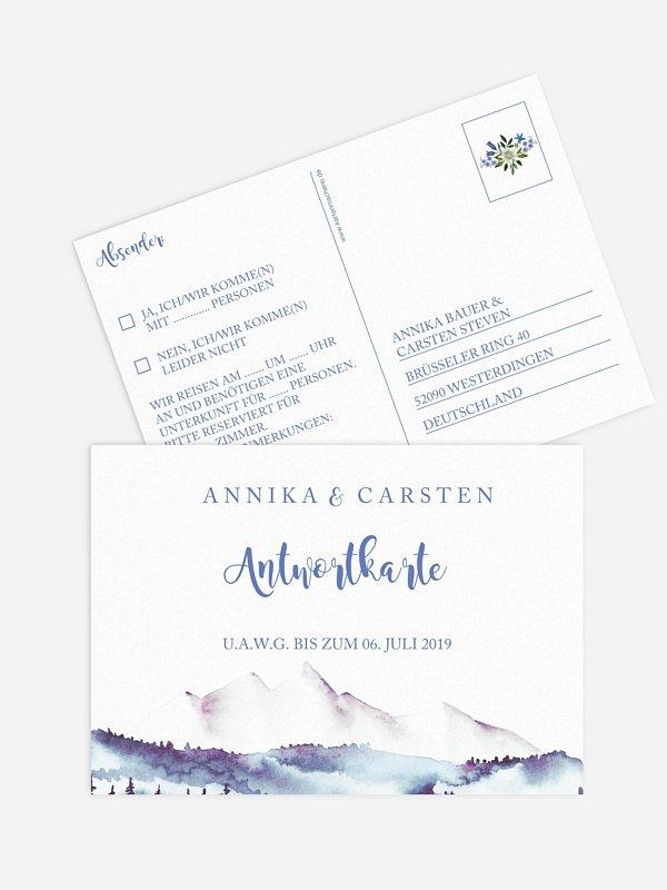 Antwortkarte Hochzeit Monte Bella