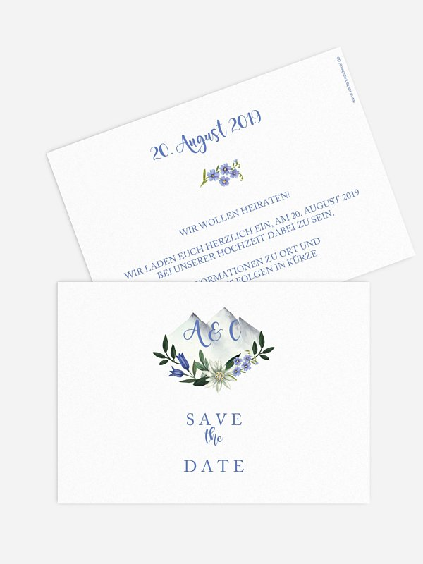 Save-the-Date Karte Monte Bella