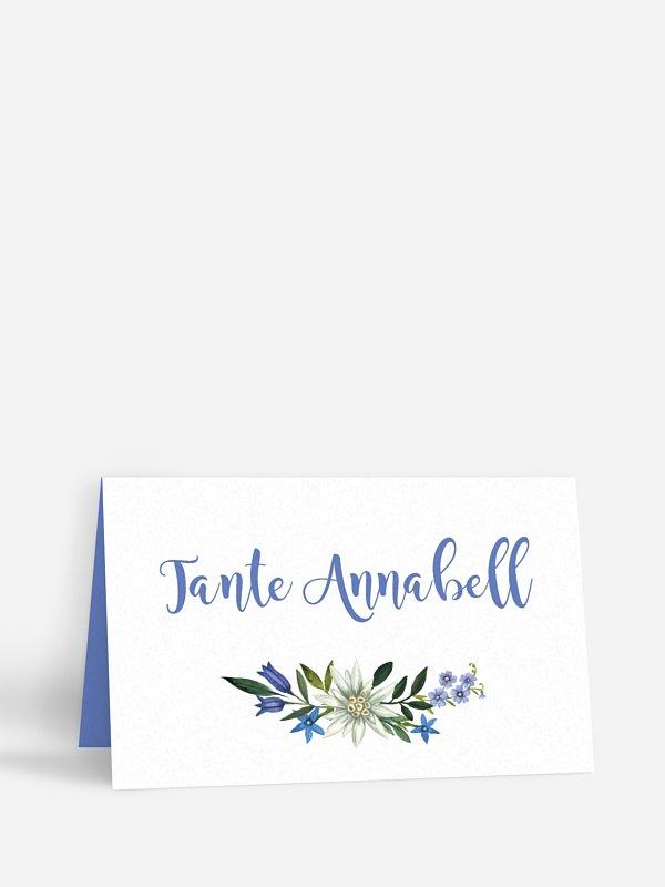 Tischkarte Hochzeit Monte Bella