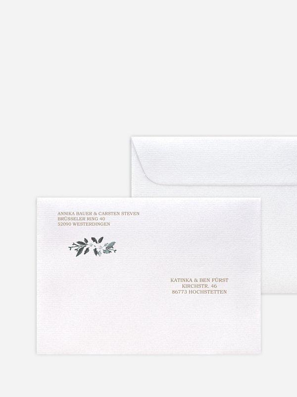 Briefumschlag Bedruckt Rustic Flowers