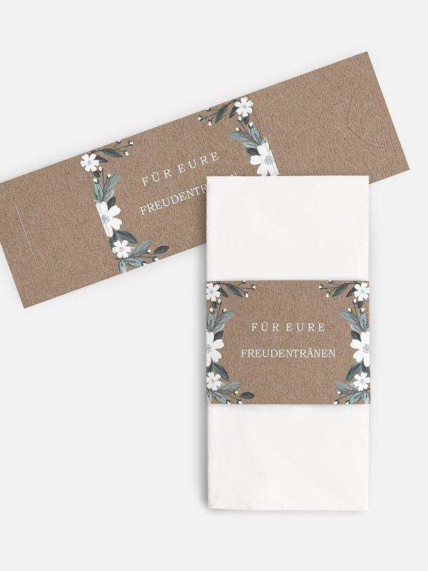 Freudentränen-Taschentücher Rustic Flowers