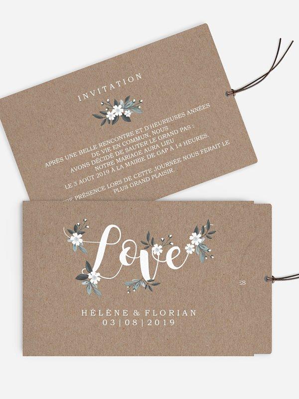 Faire-part mariage Fleurs rustiques