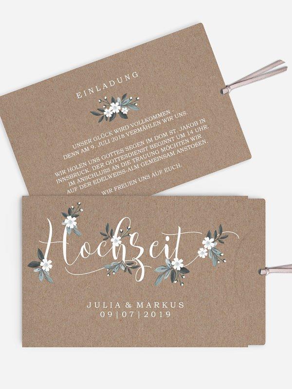 Hochzeitseinladung Rustic Flowers