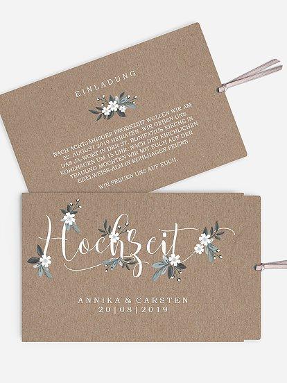 Rustikale Hochzeitseinladungen Lieferung In 1 2 Tagen