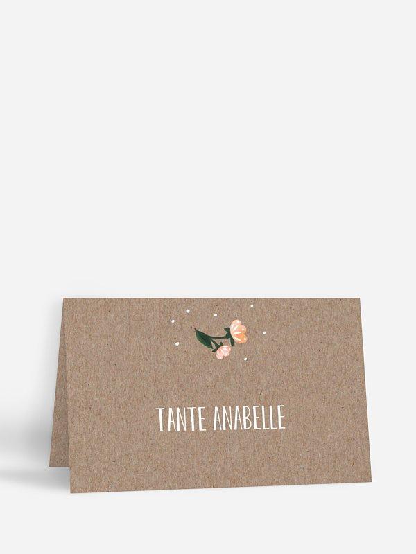 Tischkarte Taufe Papillon
