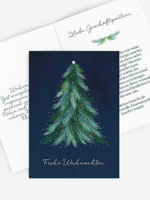 Geschäftliche Weihnachtskarte Xmas Tree