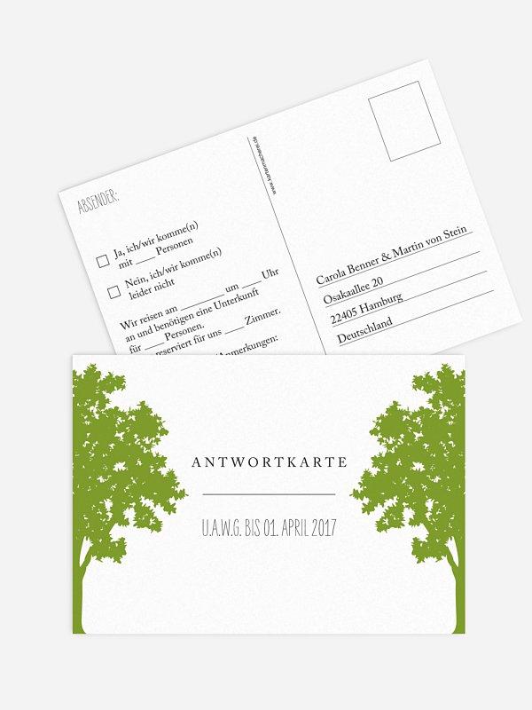 Antwortkarte Hochzeit Nature Inspired