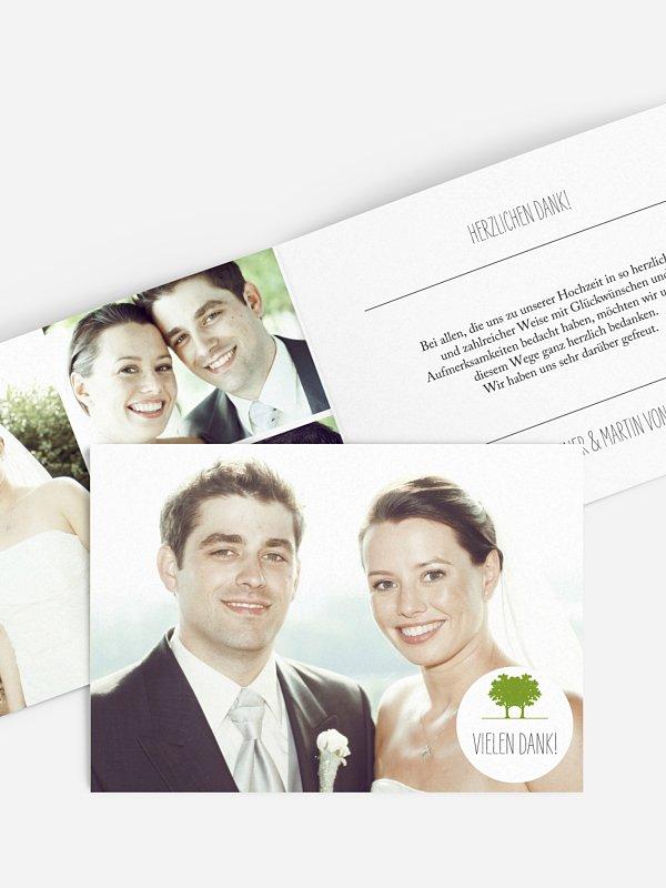 Dankeskarte Hochzeit Nature Inspired