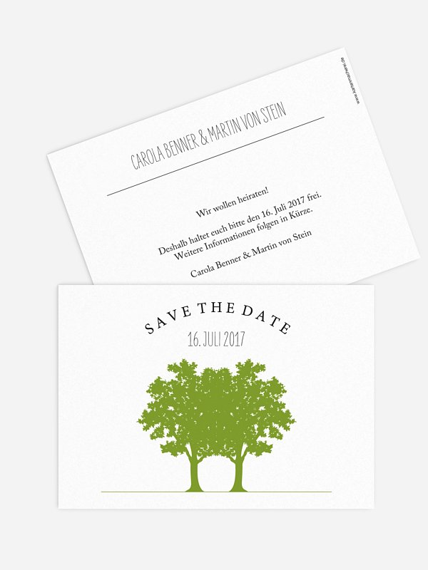 Save-the-Date Karte Nature Inspired