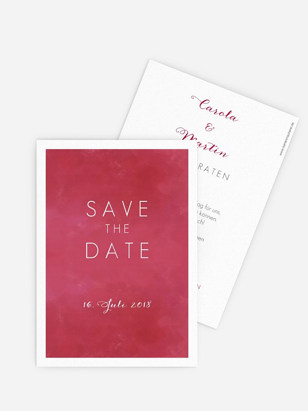 Save-the-Date Karte Artwork