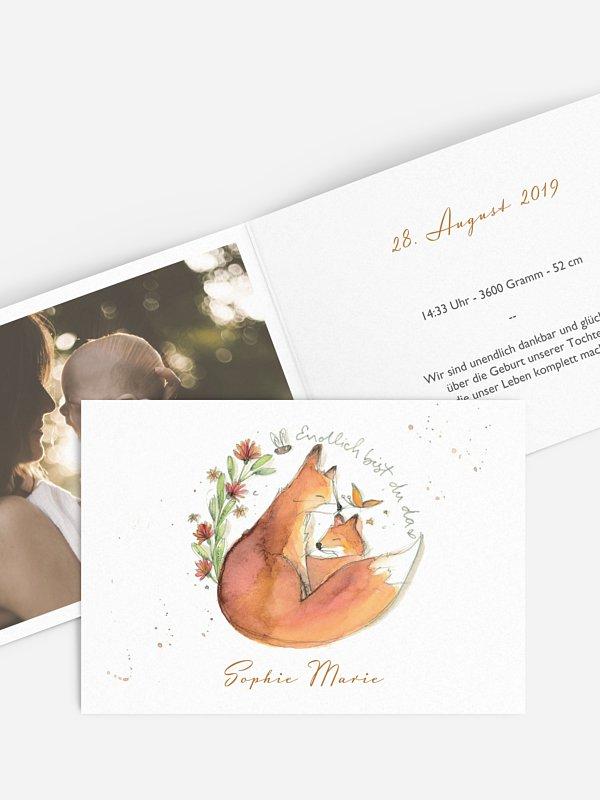 Geburtskarte Fuchsbau