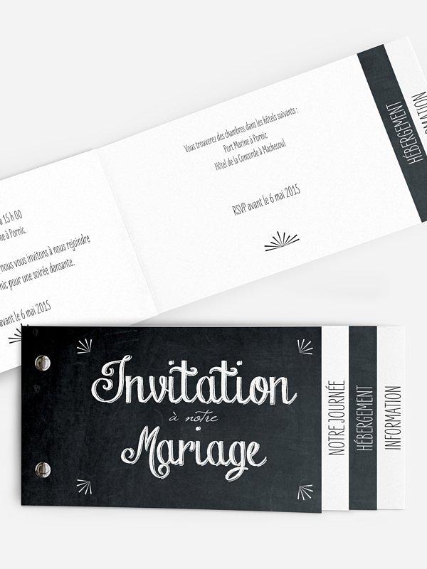 Faire-part mariage Ardoise