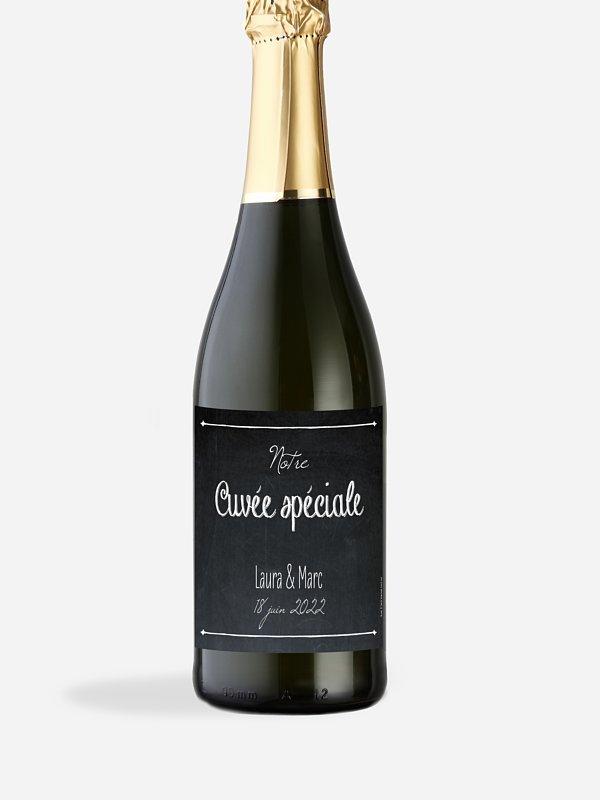 Étiquette bouteille Ardoise