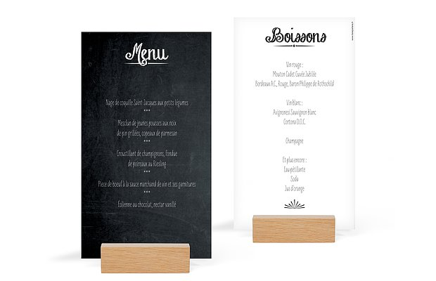 Carte De Menu Ardoise