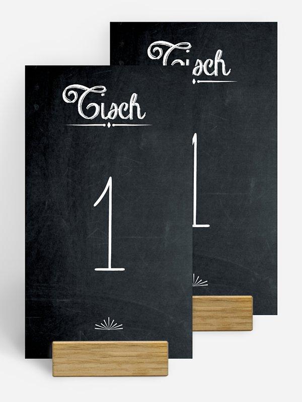 Tischnummer Tafel