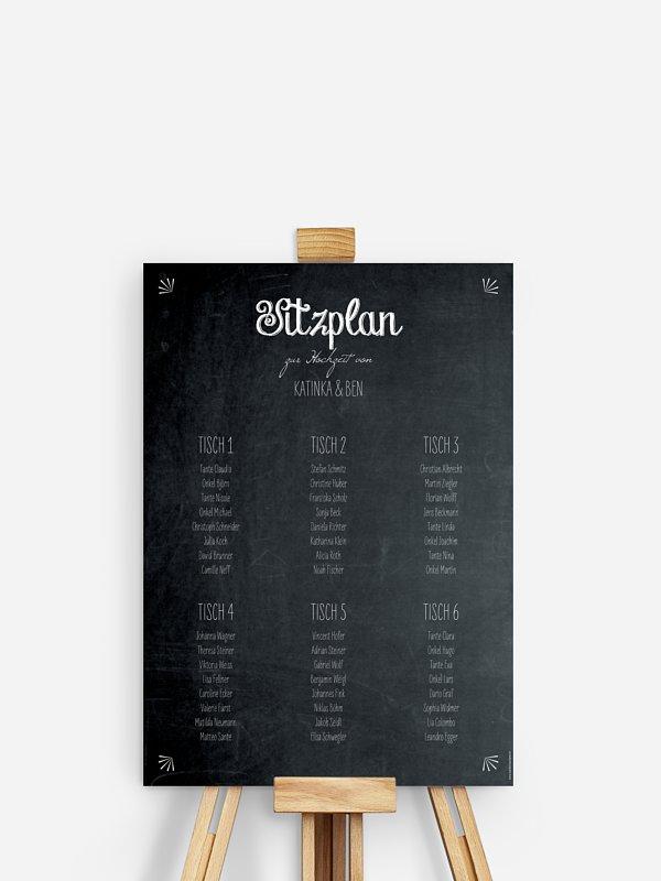 Sitzplan Plakat Tafel