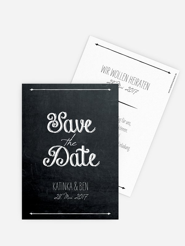Save-the-Date Karte Tafel