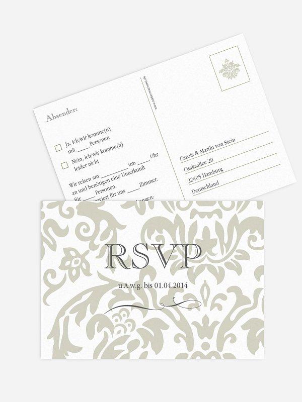 Antwortkarte Hochzeit Prachtvoll