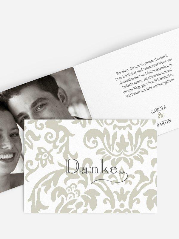 Dankeskarte Hochzeit Prachtvoll