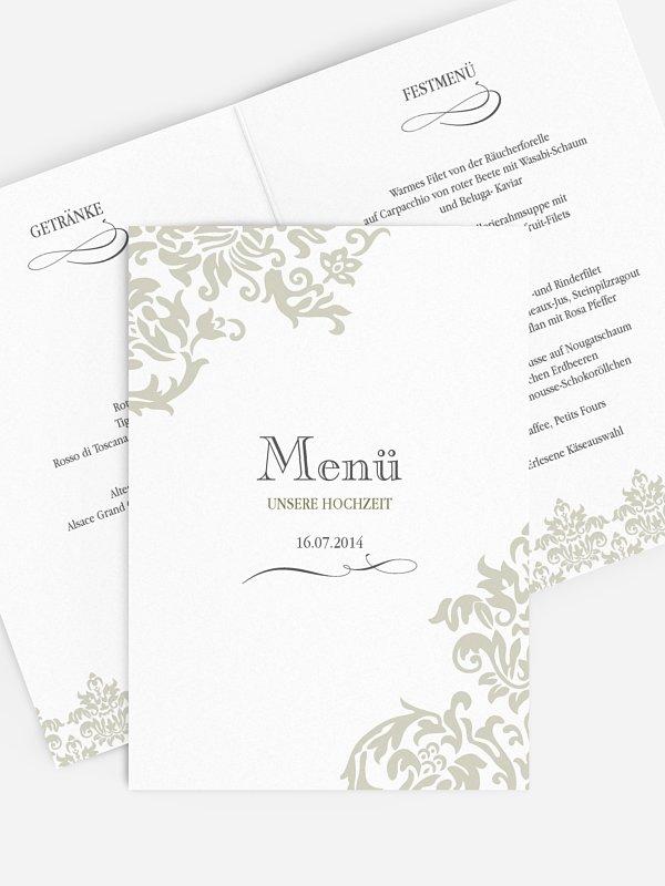 Menükarte Hochzeit Prachtvoll