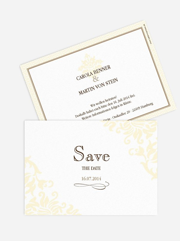 Save-the-Date Karte Prachtvoll