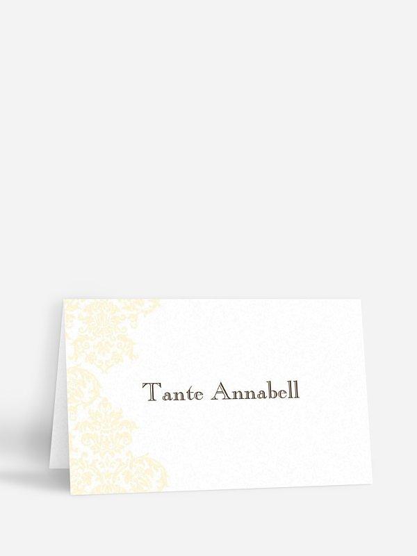 Tischkarte Hochzeit Prachtvoll