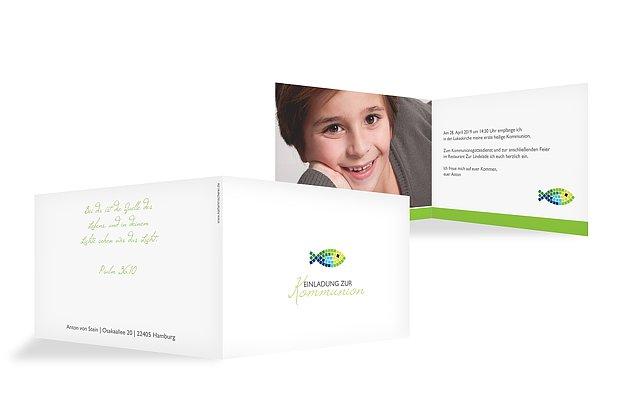 einladungskarten zur kommunion: einladung selbst gestalten, Einladungsentwurf