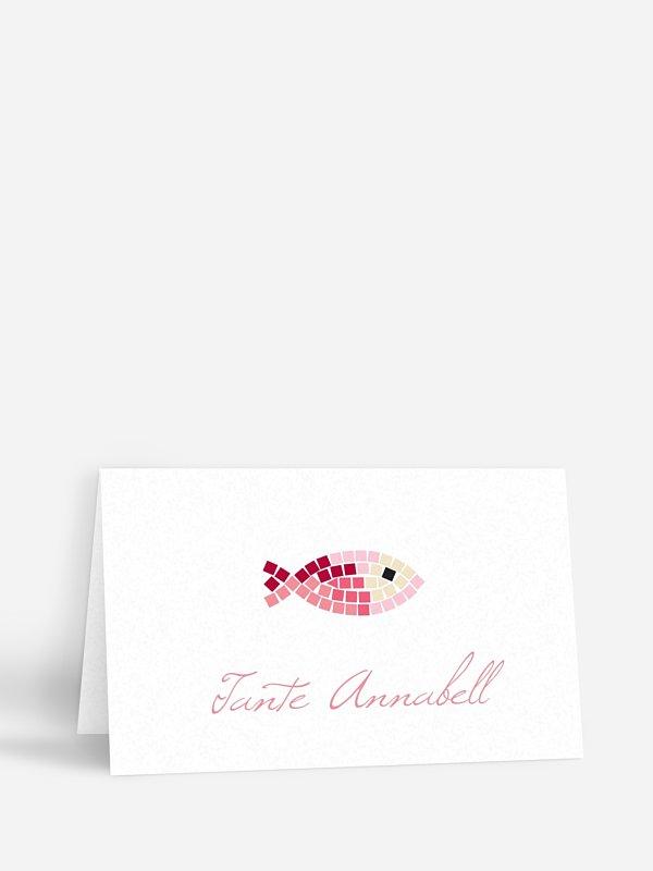 Tischkarte Konfirmation Mosaikfisch