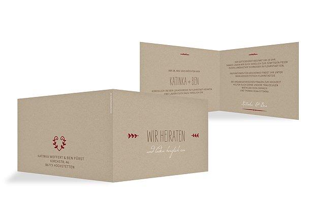 """Einladung zur Hochzeit """"Kraftpapier"""""""
