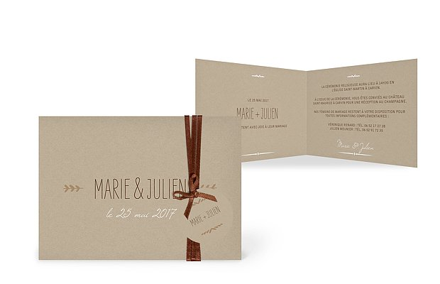 Faire-part mariage Rustic Love