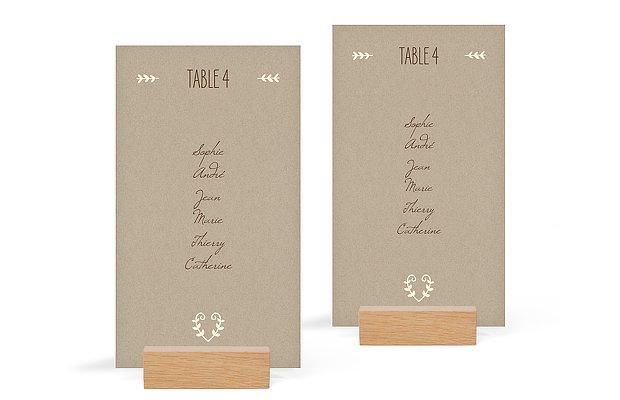 Nom de table mariage Rustic Love
