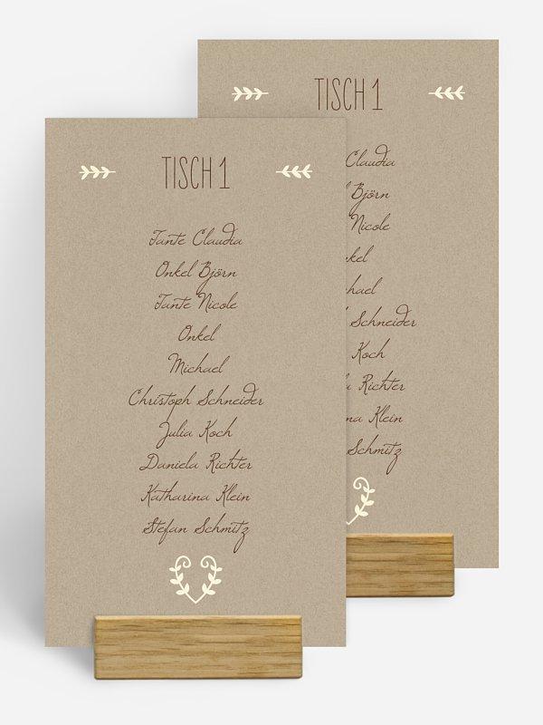Gruppentischkarte Rustic Love