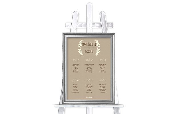 Poster plan de table mariage Rustic Love