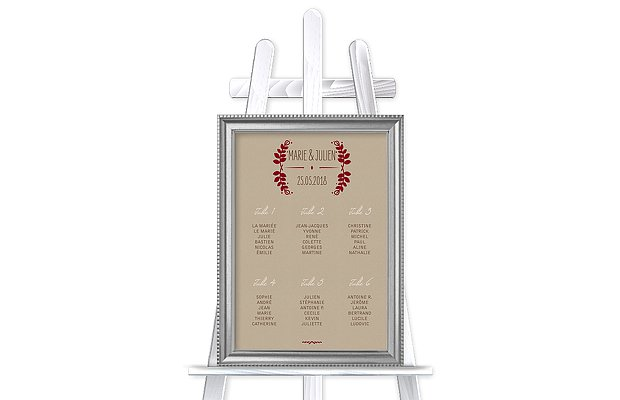 Poster plan de table mariage Rustic Love