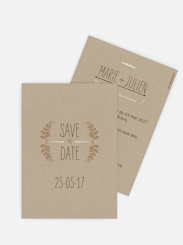 Save the date Rustic Love