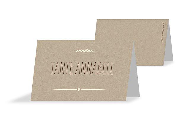 Tischkarte Hochzeit Rustic Love