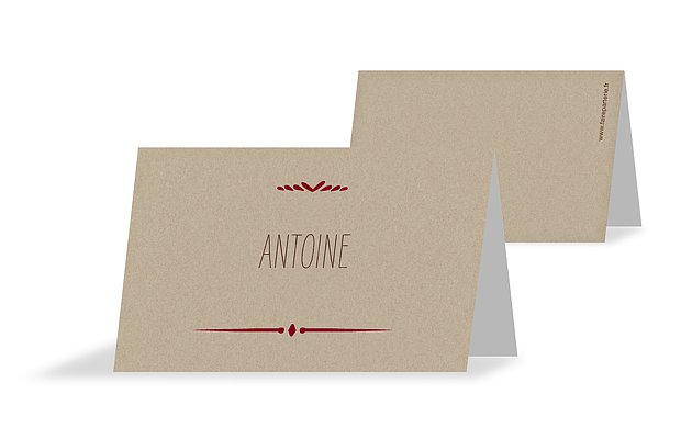 Marque-place mariage Rustic Love