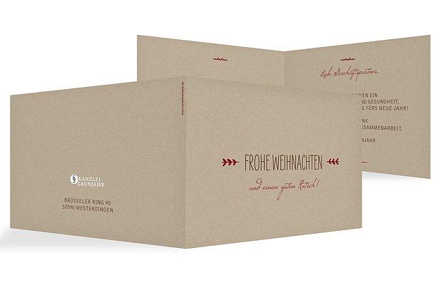 Gesch ftliche weihnachtskarte rustic love - Moderne weihnachtskarten ...