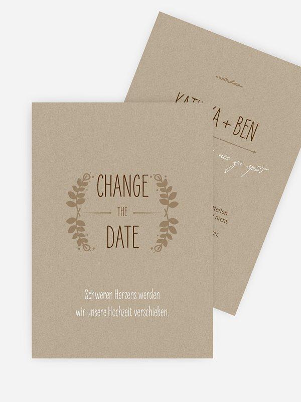 Change-the-Date Karte Rustic Love