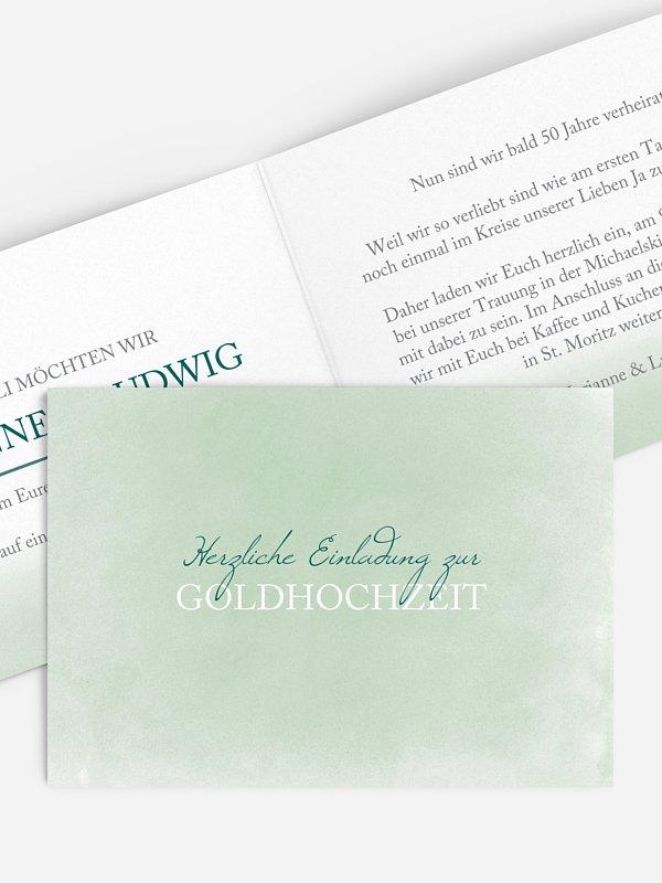 Einladung zur Goldenen Hochzeit Watercolour
