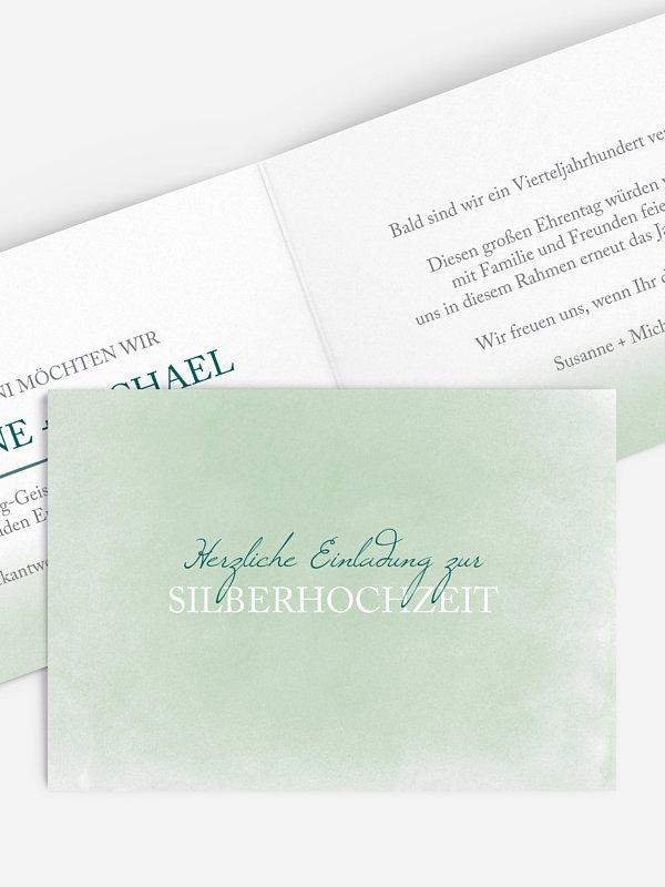 Einladung zur Silberhochzeit Watercolour