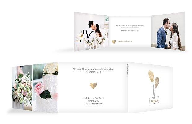 "Dankeskarte Hochzeit ""Fingerprint"""