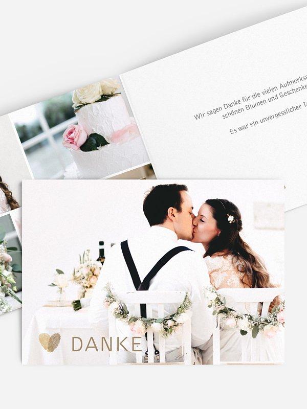 Dankeskarte Hochzeit Fingerprint