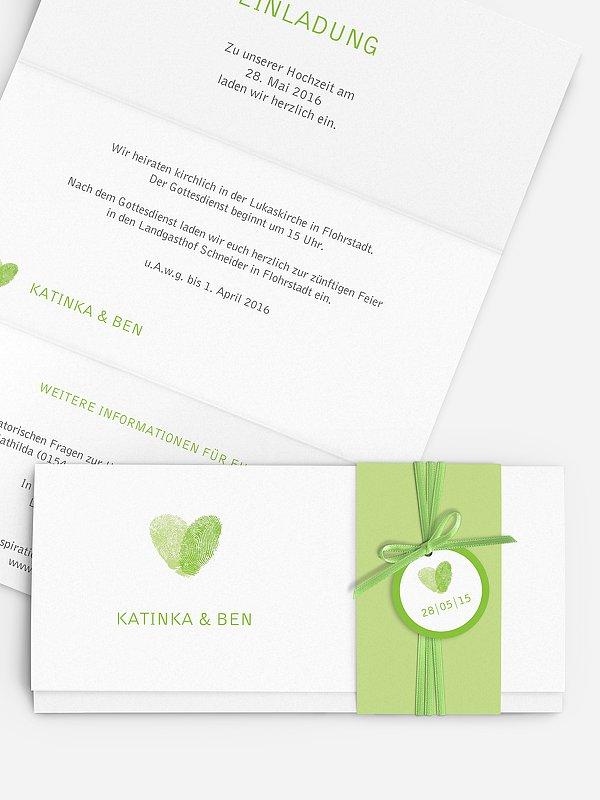 Hochzeitseinladung Fingerprint
