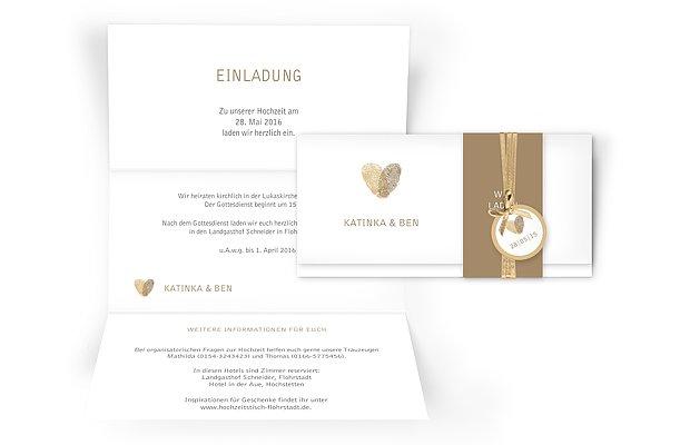 Musterbriefe Danksagung : Hochzeitseinladung quot fingerprint