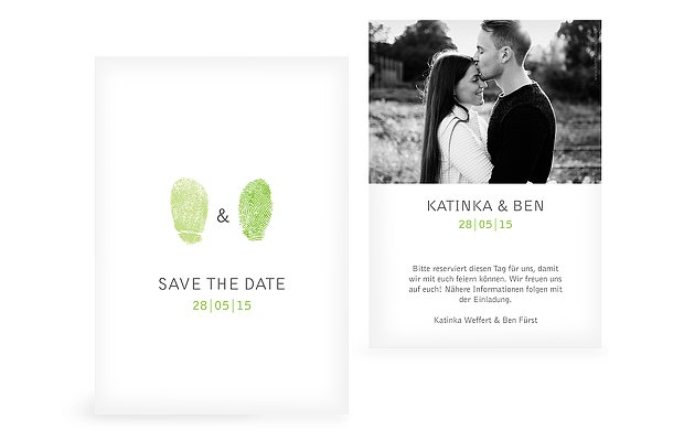 Save-the-Date Karte Fingerprint
