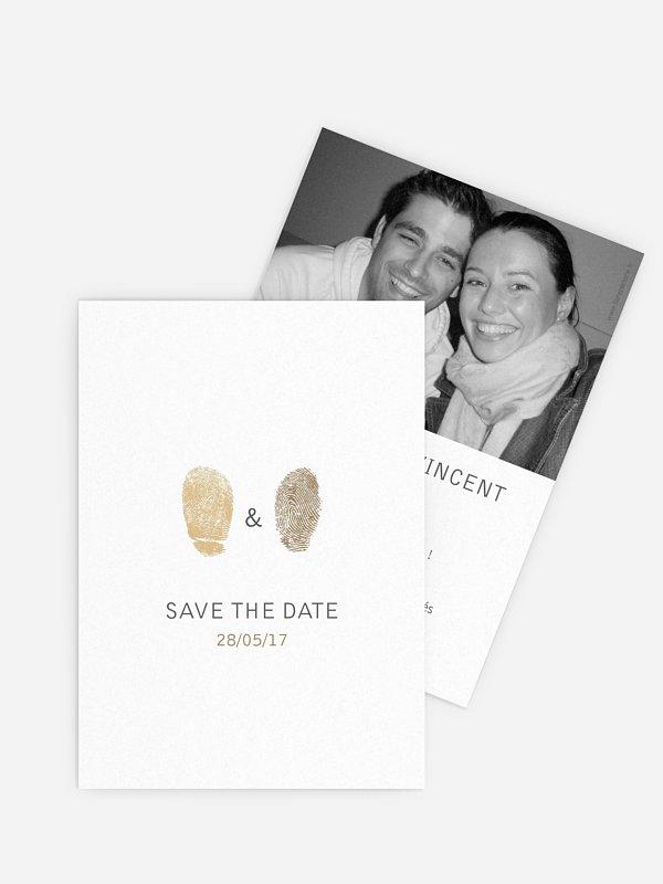 Save the date Empreinte du coeur