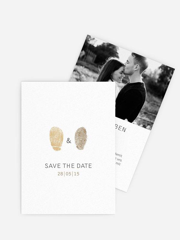 Save-the-Date Karte Fingerprint