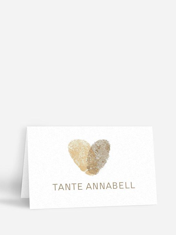 Tischkarte Hochzeit Fingerprint