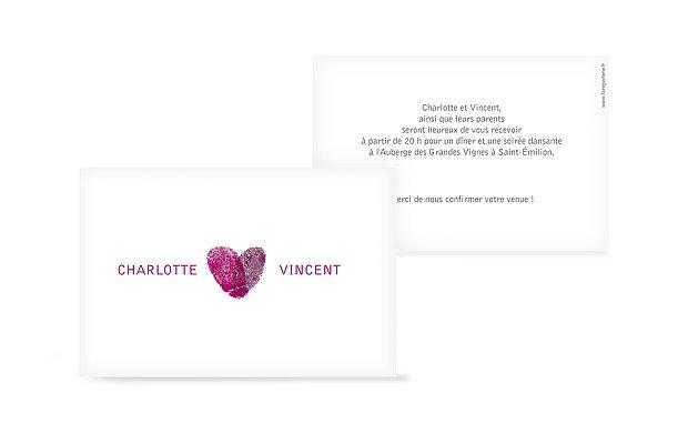 Carton d'invitation Empreinte du coeur